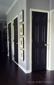 Painted Interior Doors Focal Point Styling How To Paint Interior Doors Black Update