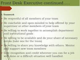 Qualities Of A Front Desk Officer Front Office Mgt In Hospital