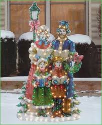 Outdoor Lighted Christmas Decorations Lighting Victorian Christmas Decorations 48 Christmas Caroler