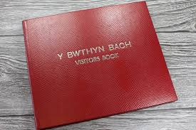 leather album company large personalised visitor book bespoke album company