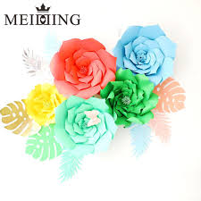 flowers for s day meidding 2pcs diy paper flower backdrop 20cm paper flowers kid s