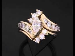 zales wedding ring sets 2 carat marquise bridal ring set 14k yellow gold zales