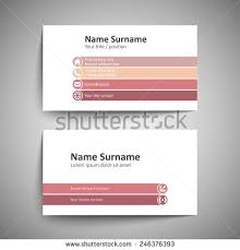 Simple Business Cards Templates Modern Simple Business Card Template Vector Stock Vector 240379594