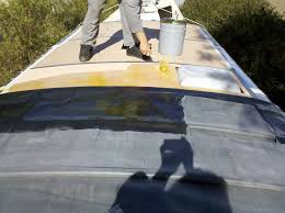 replacing the rv roof u2013 on borrowed land