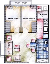Condominium Plans Almanza Metropolis 2 Bedroom Unit Floor Plan Manila