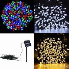solar power led lights 100 bulb string 33ft 10m 100 led solar powered fairy string lights waterproof for