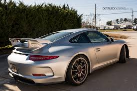 porsche gt3 rs wrap rhodium silver porsche gt3 xpel stealth wrap atlanta detailed