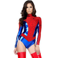 Carnival Halloween Costumes Shop 2017 Women Stage Cosplay Superhero Spiderman