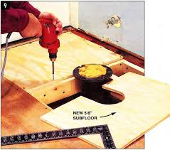 how to cut through subfloor how do you replace a subfloor with step by step pictures