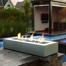 Fire Pit Paloform Robata Modern Rectangular Concrete Outdoor Fire Pit