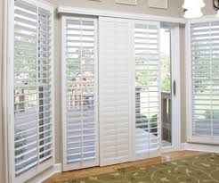 Sliding Shutters For Patio Doors Sliding Glass Door Shutters In Southern California Sunburst