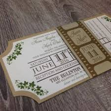 ticket wedding invitations ticket invitation wedding invitation belly band