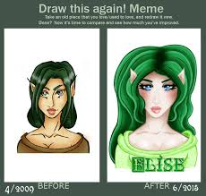 Draw This Again Meme Template - draw this again meme elise by wastedshame on deviantart