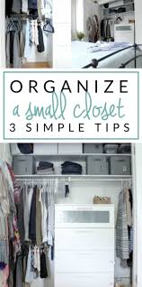 Small Bedroom No Closet Solutions Small Closet Organizing 101 The Crazy Craft Lady
