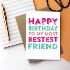 best friend cards notonthehighstreet com