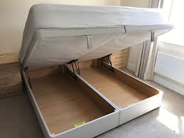 super king ottoman storage bed and silent night mattress free