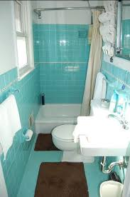 turquoise tile bathroom small 1964 aqua tile bathroom shows use of small space for