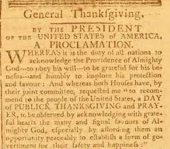a national thanksgiving president washington and america s