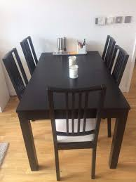 ikea black brown dining table needs to go extendable dining table 6 chairs ikea börje bjursta