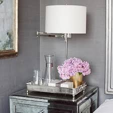 mirrored tray nightstand design ideas