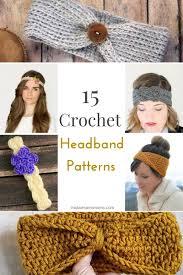 crocheted headbands free crochet headband patterns