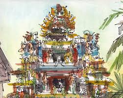 Bouquet De Bonbons Aquarelle by Croquis De Linde Art De Voyage Porte De Temple Indien 8 X