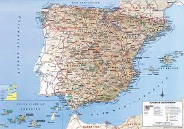 Vigo Spain Map by Detailed Road Map Of Spain Jpg