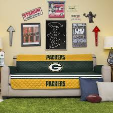 Green Bay Packers Home Decor Amazon Com Nfl Green Bay Packers Sofa Couch Reversible Furniture