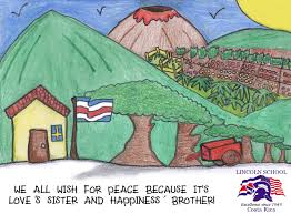 Costarican Flag Trish Booth Schools U0027 International Peace Quilt Page 35