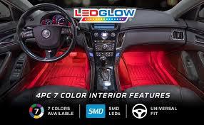 how to shoo car interior at home amazon com ledglow 4pc multi color led car interior underdash