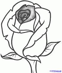 coloring page pretty simple rose to draw easy how coloring page