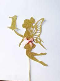 fairy cake topper fairy cake topper large fairy gold glitter one cake topper