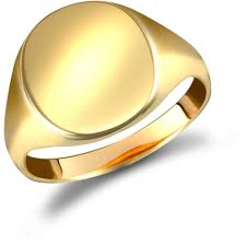 ring plain 9ct yellow gold signet ring plain ramsdens