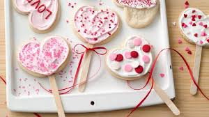 valentines day cookies heart shaped cookie pops recipe pillsbury