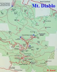 Buckeye Trail Map Mt Diablo Hiking Maps Trails Danville