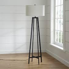 castillo black floor lamp crate and barrel