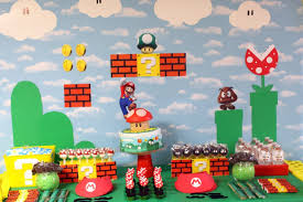 Super Mario Home Decor Mario Birthday Party Decorations And Walk Through Abe U0027s World