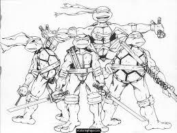 christmas ninja turtles coloring pages kids coloring