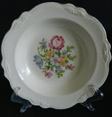 homer laughlin fluffy homer laughlin virginia china bowl in the petit point pattern