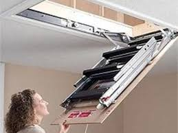 retractable loft staircase small opening attic stairs heavy duty