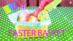 Homemade Easter Baskets by Diy Easter Basket How To Make Easter Basket With Rabbit Diy