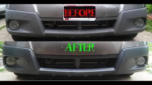 plastic bumper restore with dupli color trim and bumper paint