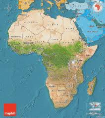 Political Map Of Africa by Satellite Map Of Africa Political Shades Outside Satellite Sea