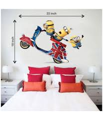impression wall minions on scooter pvc wall stickers buy impression wall minions on scooter pvc wall stickers