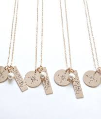 bridesmaids gift ideas the bridal boutique bridesmaid gift coordinates necklace by