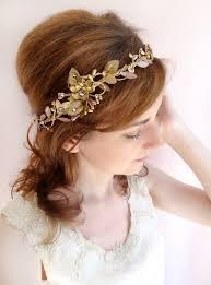 wedding headband rosetti gold bronze bridal headband with swarovski crystals