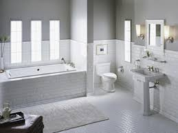Tile Borders Master Bathroom Shower Boasts White Subway Tiles Accented With