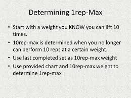 1 Rep Max Bench Press Chart Periodization And Max Lifting Ppt Download