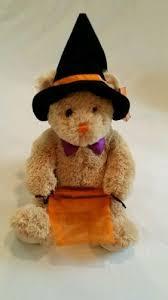 gund godiva witch hat tan brown teddy bear halloween plush stuffed