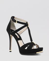 michael kors open toe platform sandals leandra high heel in